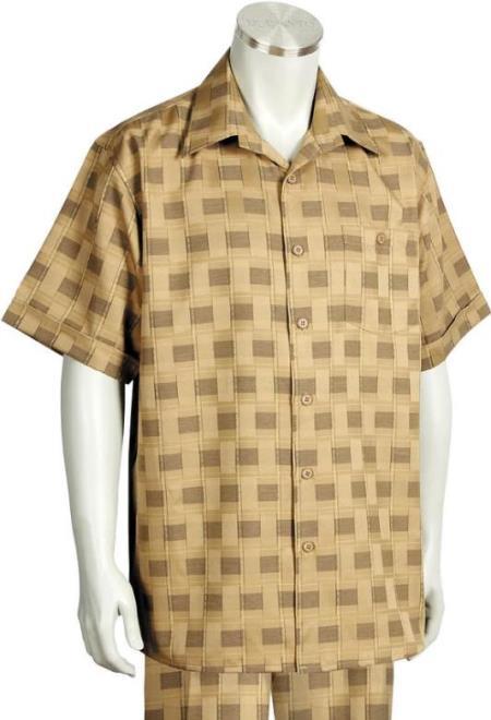 Camel Point Collar 2pc Walking Suit