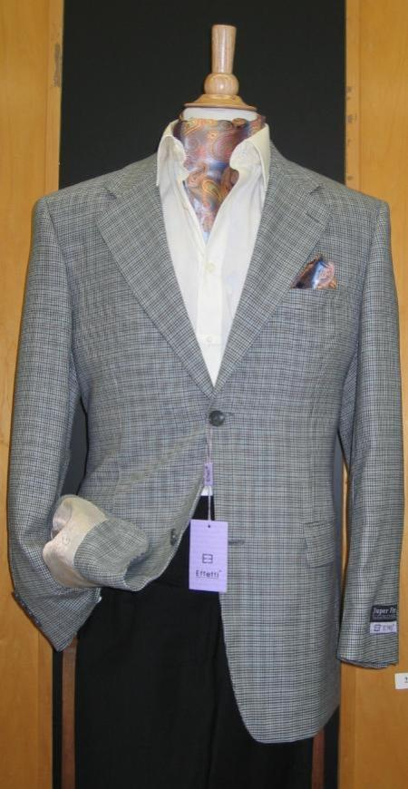 SKU#JA837 2 Button Wool and  Blue Grey Sport Coat $179