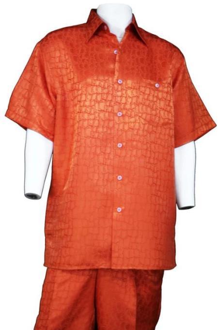 Exotic Skin - Gator - Crocodile Print Shirt and Pants