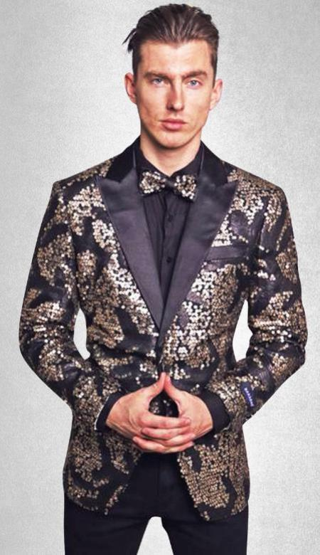 Starry - Sequin Signature Blazer (Black/Gold)