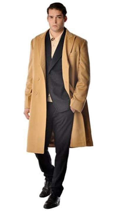 %35 Cashmere %65 Wool Fabric by Alberto Nardoni Bran Pure Cashmere Full Length Men's Long Men's Dress Topcoat -  Winter coat - Overcoat - Coat By Lora Piana Fabric