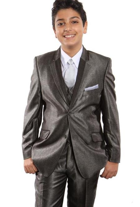 Taupe Boys Suit