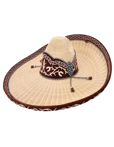 Sombrero Charro De Mimbre - Herradura Almendra