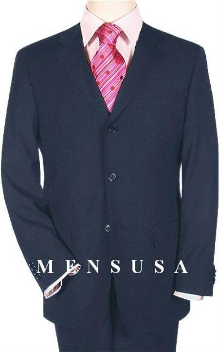 Cheap Plus Size Suits For Men - Big and Tall Suit For Big Guys Navy Blue