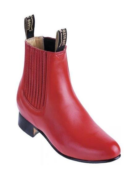 Men's Los Altos Boots Botin Charro Deer Boots Red