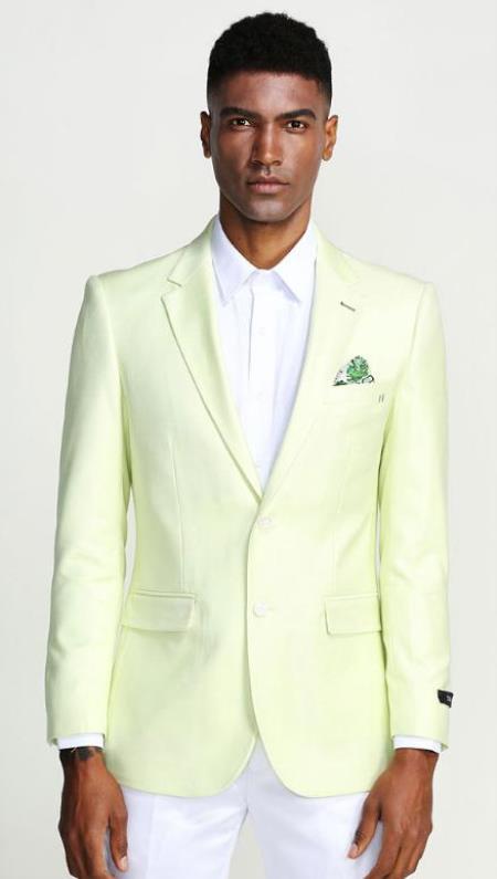 Mint Green Blazer - Light Green Blazer For Men