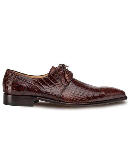 Mezlan Brand Mezlan Men's Dress Shoes Sale Mezlan Men's Moscow Sport Genuine Full Alligator Men's Plain Toe Oxford