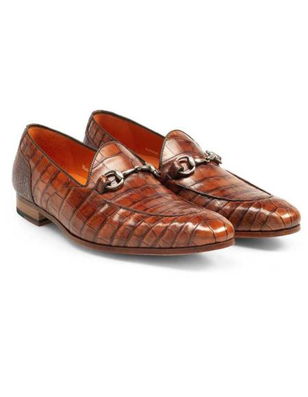 Mezlan Brand Mezlan Men's Dress Shoes Sale Mezlan Men's Gold Genuine Alligator Men's Slip On
