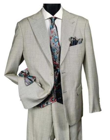 Falcone Mens Light Tan Suit