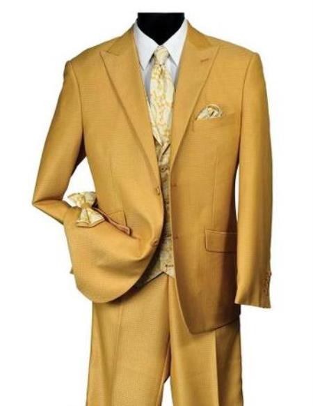 Falcone Men's Mustard Suit