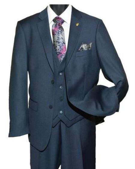 Falcone Men's Navy Blue Suit