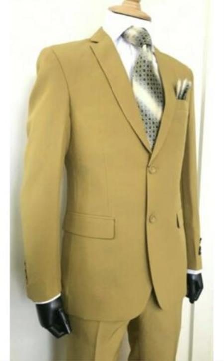 Camel - Khaki 2 Button Suits