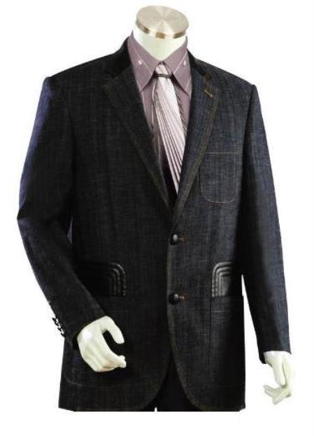 Men's Midnight Blue Fully inner lined Denim jacket