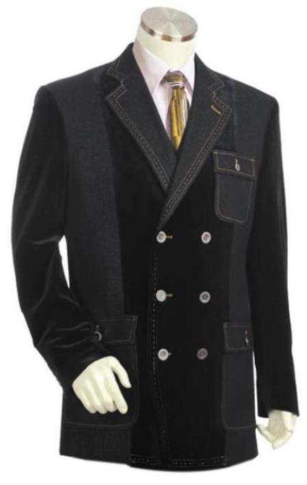 Men's Highly Stylish Brown Denim blazer