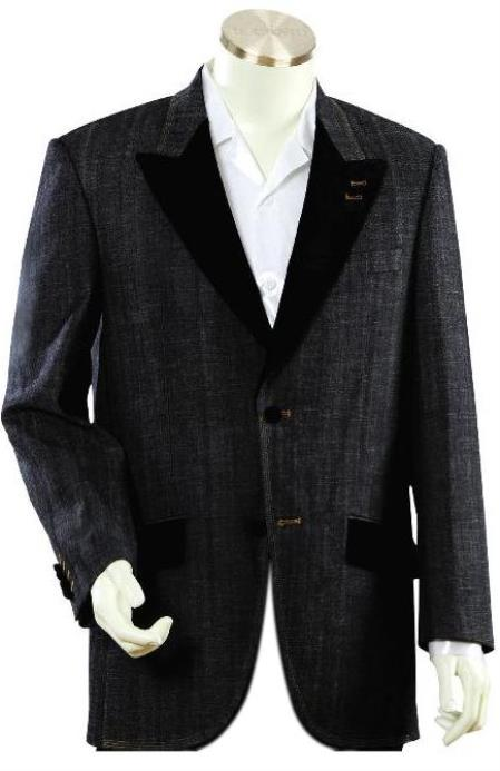 Men's Luxurious Black Zoot Denim blazer