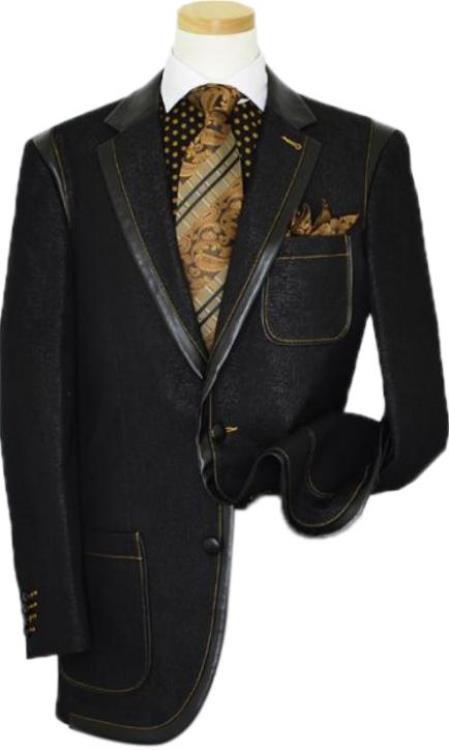 Mens  2-button style Denim blazer
