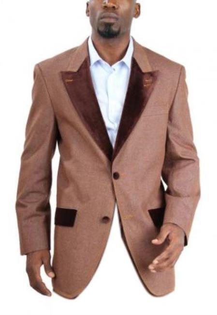 Men's Fashion Two Button Cotton Denim blazer