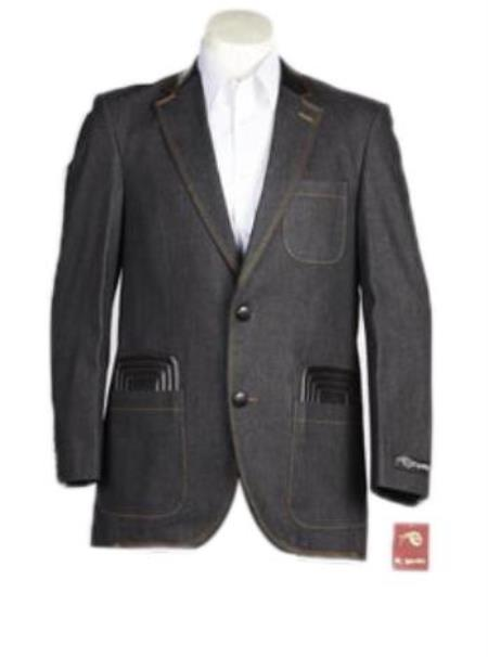 Men's 2 Button Denim blazer
