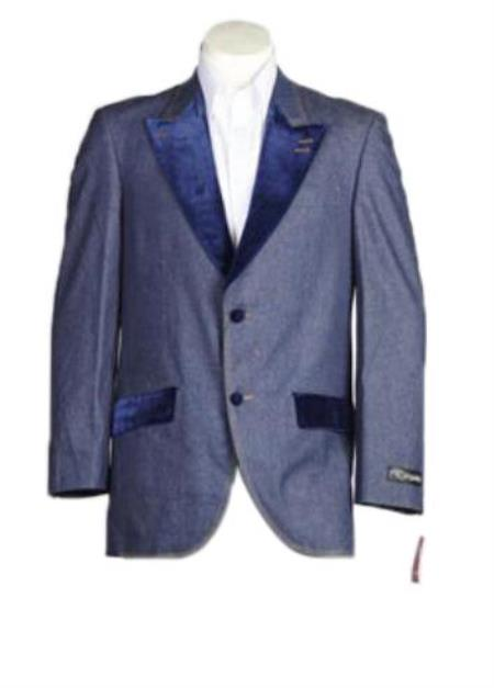 Men's Denim blazer - Denim Sport Coat Jacket (No Pants)