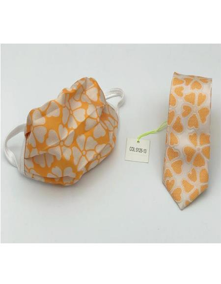 Protective Face Mask And Matching Tie Set Orange