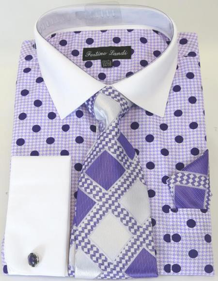 Purple Colorful Men's Dress Shirt