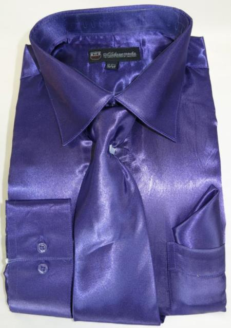 Purple Colorful Men's Dress Shirt
