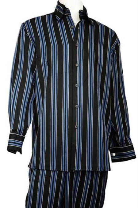 Black Long Sleeve 2pc Walking Leisure Suit