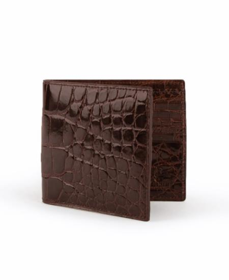 Men's Full Alligator Hipster Chocolate
