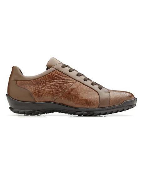 Men's Genuine Ostrich and Italian Calf Sneaker Honey