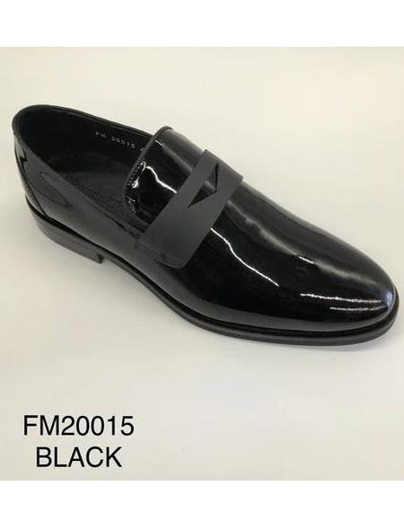 Tuxedo Shoes - Formal Shoes- Men's Wedding Shoe - Giovanni Testi 100% Patent Leather Shoes