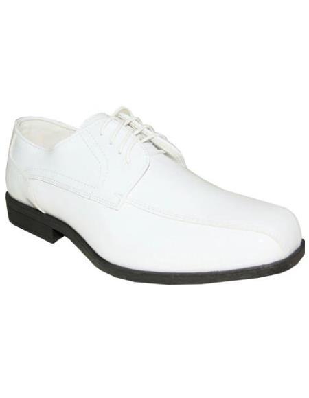 Men's White Jean Tuxedo Shoes