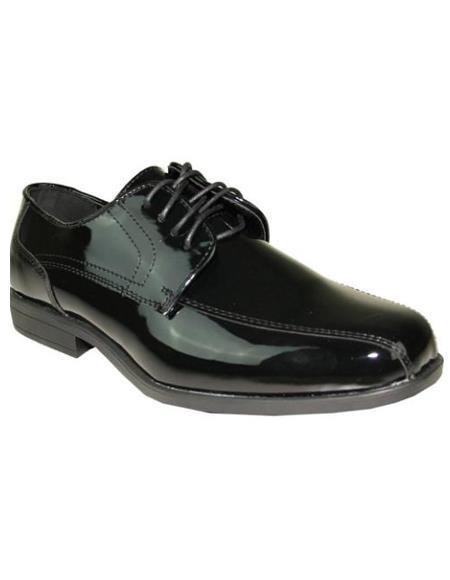 Mens Black Jean Tuxedo Shoes