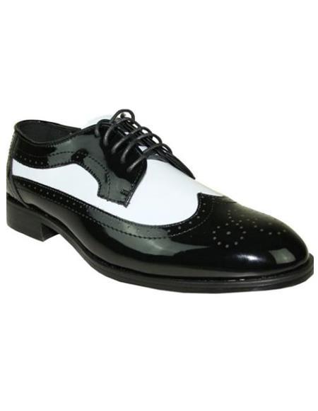 Men's Black and White Jean Tuxedo Shoes