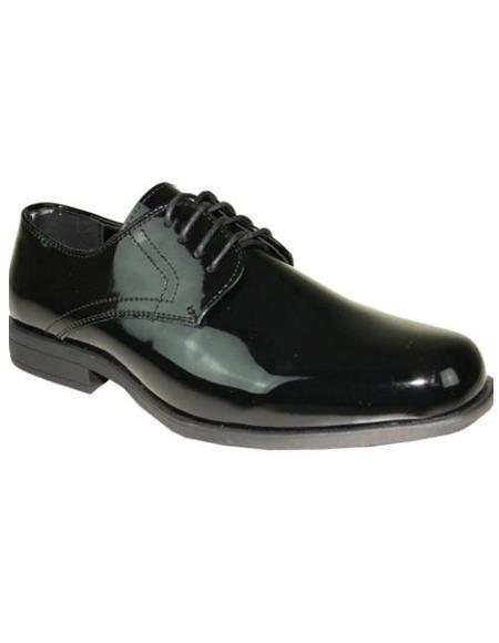 Men's Black Tuxedo Shoes