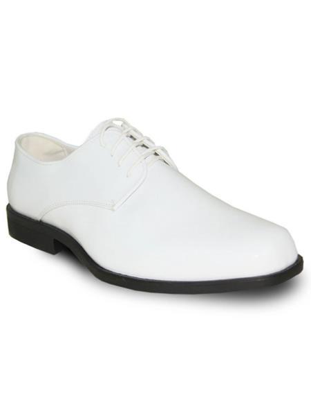 Men's White Vangelo Tuxedo Shoes