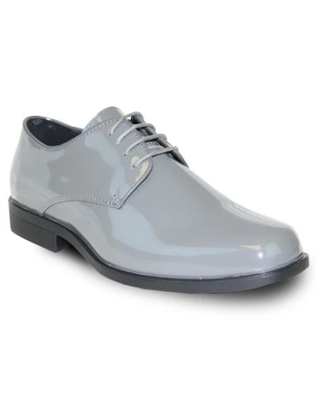 Men's Grey Vangelo Tuxedo Shoes