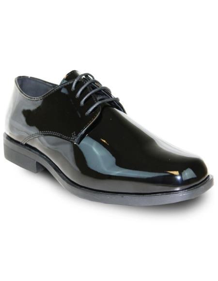 Men's Black Vangelo Tuxedo Shoes