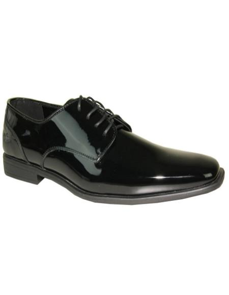 Mens Black Vangelo Tuxedo Shoes