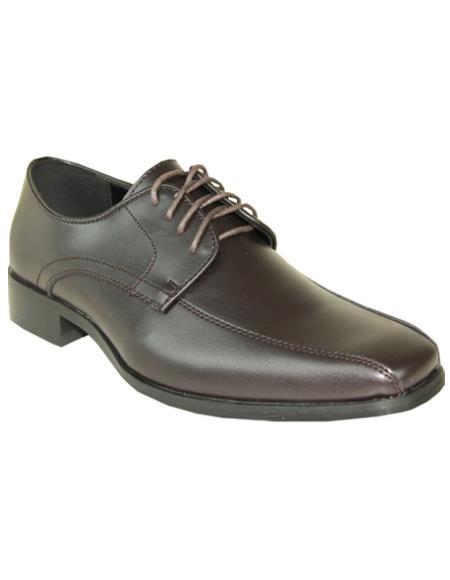 Men's Brown Matte Vangelo Tuxedo Shoes