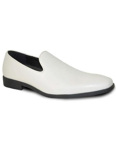 Men's Ivory Matte Tuxedo Shoes