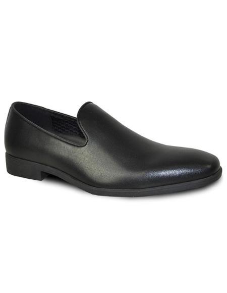 Men's Black Matte Tuxedo Shoes