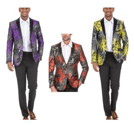 Floral Blazer - Paisley Blazer - Men's Blazer - Sport Coat
