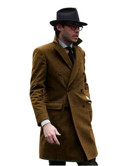 Double Breasted - Three Quarter Coat - Cashmere and Wool Topcoat + Style# Manhattan Camel