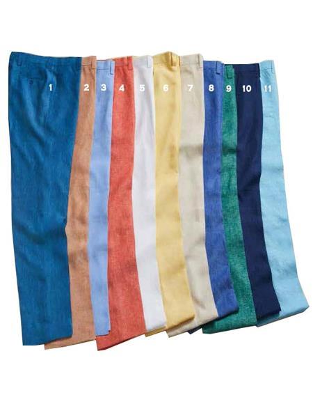 Men's 100% Linen Slim Fit Pants by Merc - 11 Colors