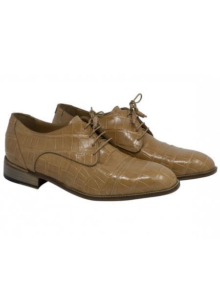 Mauri Alligator Skin Dune Beige Shoes