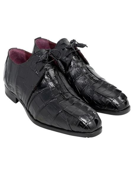 Mauri Hornback Shoes Lace Up Style Black Shoes