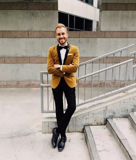 Light Brown Velvet Tuxedo + Matching Bow Tie
