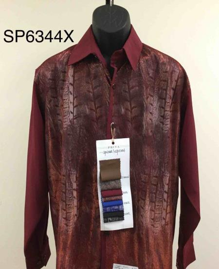 Walking Suit - Leisure Suit - Fashion Long Sleeve Shirt and Pants -  2PC Set Red