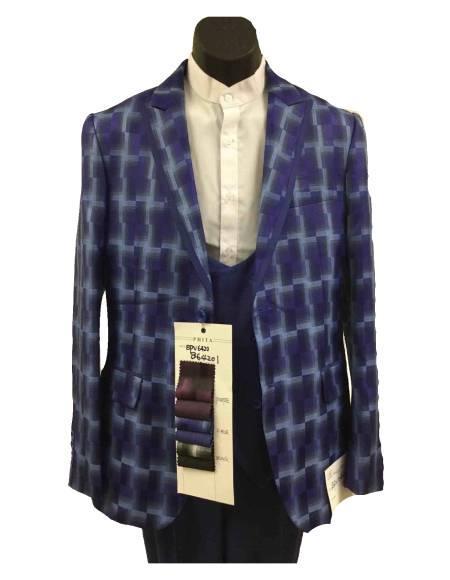 Plaid Suits - Window Pane Fashion Suits Suits 3 Piece Suit Vested