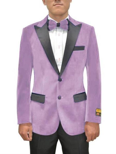 Lavender Velvet Blazer - Lilac Velvet Tuxedo + Matching Bowtie